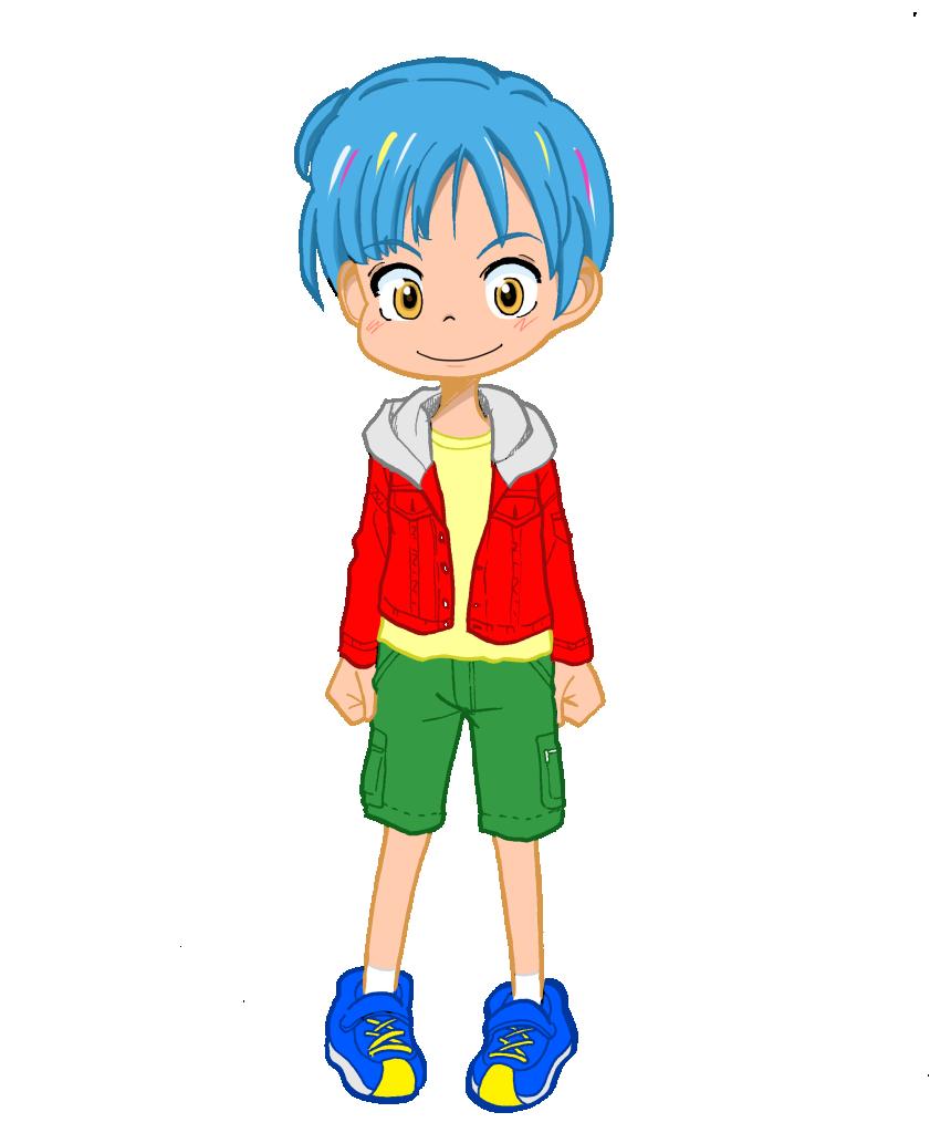少年(カラー・線画)