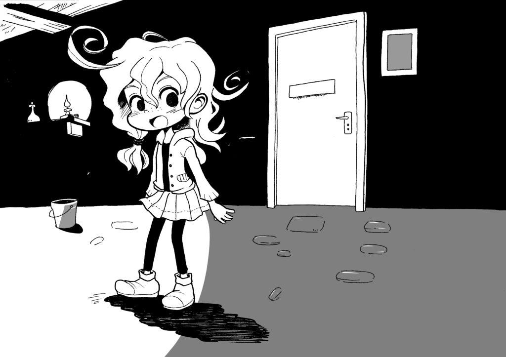 ホラーチックな部屋のノウズちゃん