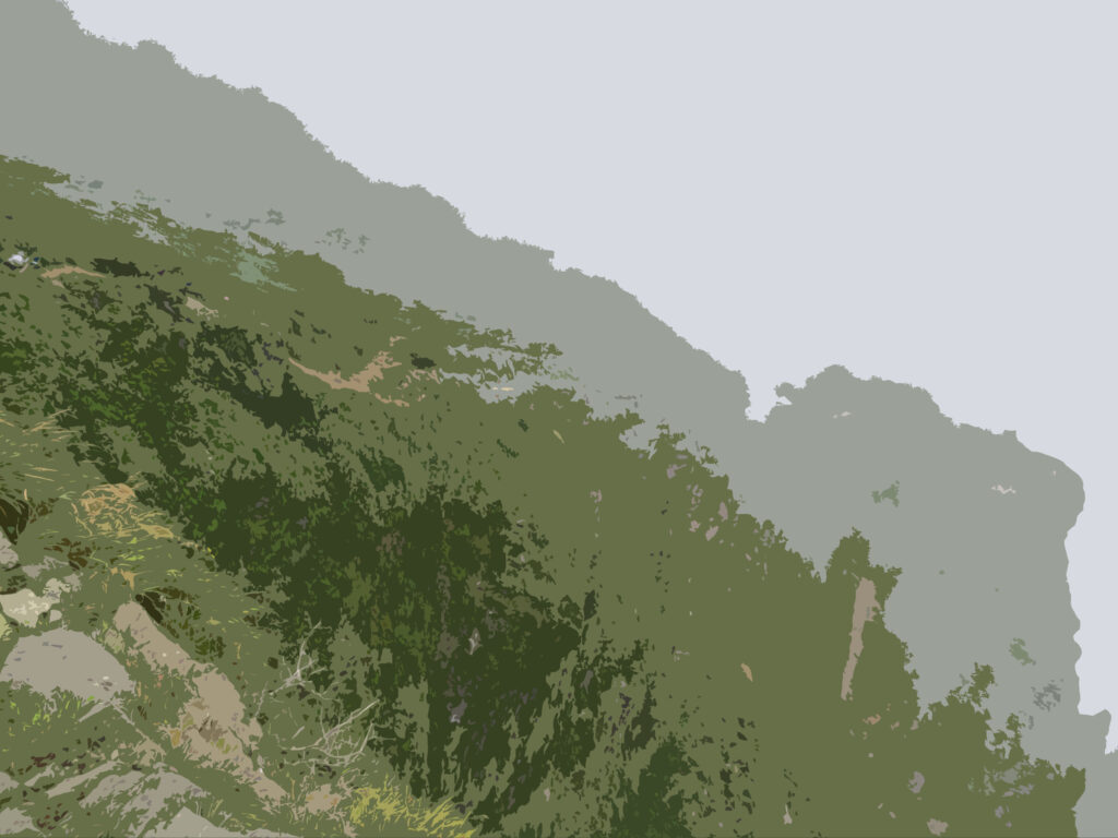 フリー素材背景【山の稜線】
