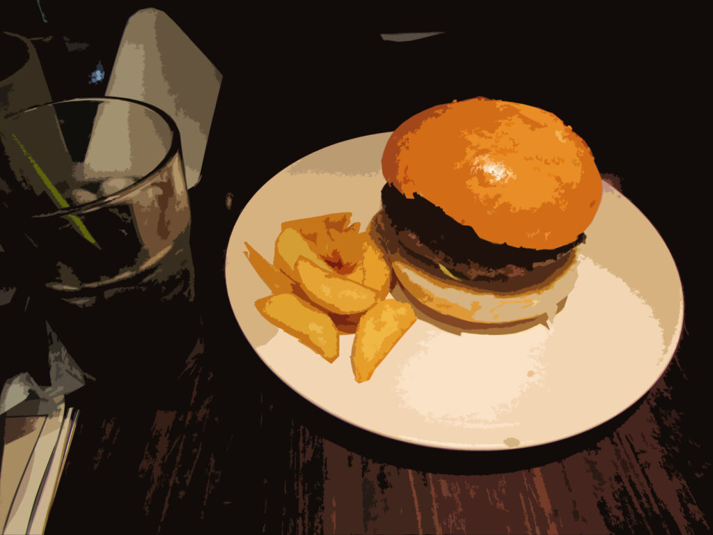 フリー素材食物【ハンバーガー】