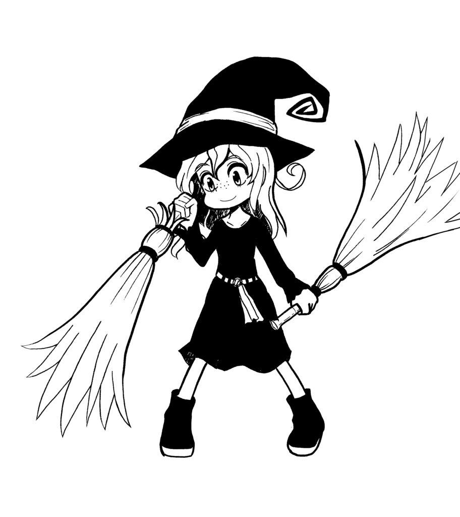 二刀流の魔女
