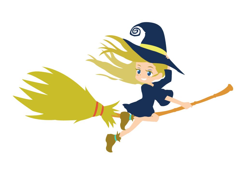 空飛ぶ子供魔女